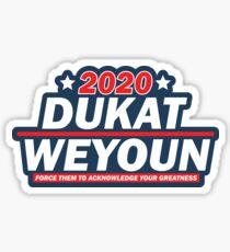 Dukat - Weyoun 2020 Presidentials  Sticker