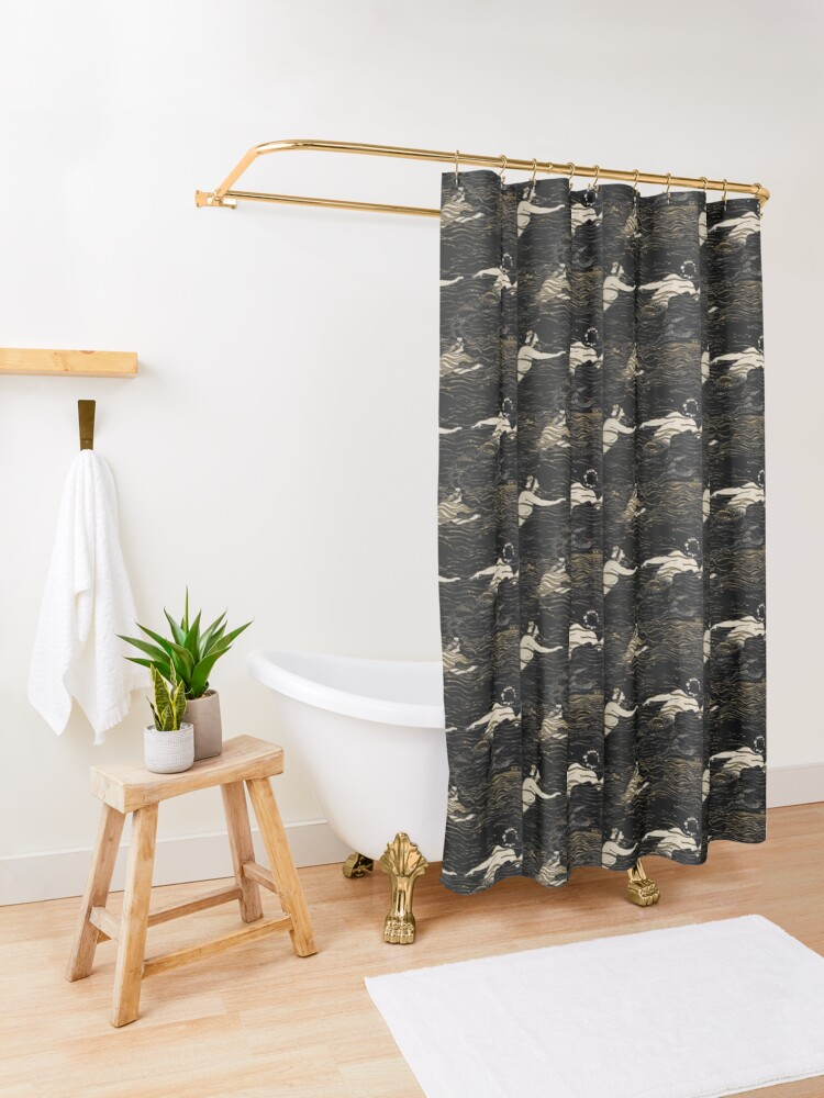 Alternate view of River Nymphs Shower Curtain
