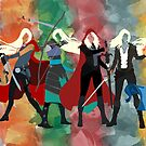 Throne of Glass Series Watercolor by kbhend9715