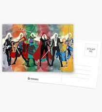 Thron aus Glas Serie Aquarell Postkarten