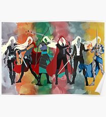 Throne of Glass Series Watercolor Poster