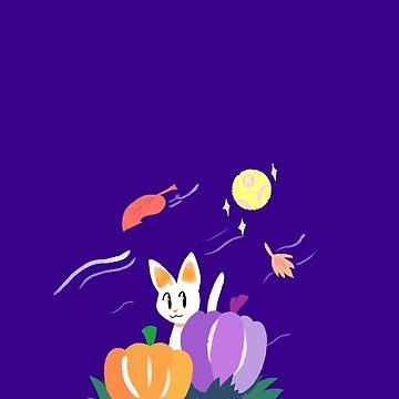 Pumpkin Patch Kitty by Sam Buse by pizzakeicute