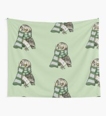 Cunning Short-Earred Owl Wall Tapestry