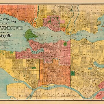 Indexed guide map of the city of Vancouver and suburbs by FOVCA