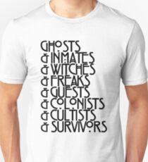 Ghosts& 2018 Black Text Unisex T-Shirt