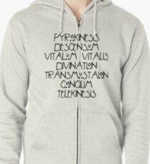 Seven Wonders (black text) Zipped Hoodie