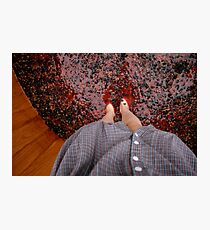 Perspective Stomping Grapes Photographic Print