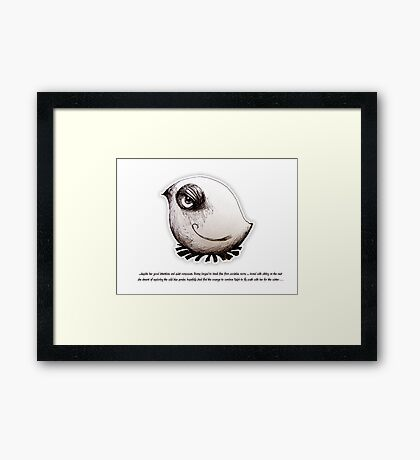 Little Profiles Bird Boredom Framed Print