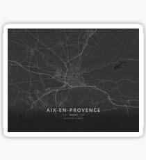 Aix-en-Provence, France Dark Map Sticker