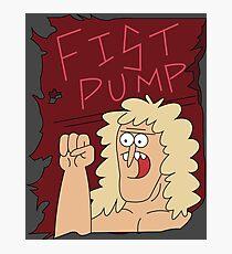 Fist Pump Poster Regular Show Photographic Print
