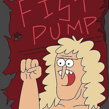Fist Pump Poster Regular Show by Mrmasterinferno
