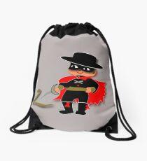 Retro Kid Billy features the legendary Zorro  Drawstring Bag