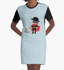 Retro Kid Billy features the legendary Zorro  Graphic T-Shirt Dress