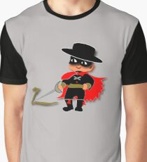 Retro Kid Billy features the legendary Zorro  Graphic T-Shirt