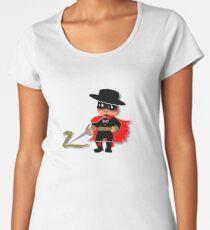 Retro Kid Billy features the legendary Zorro  Women's Premium T-Shirt