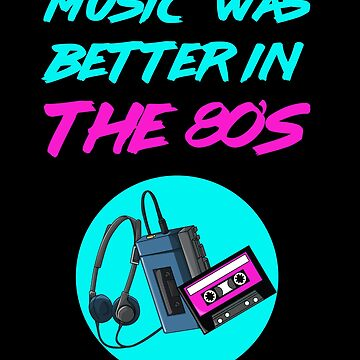 80's Music Casette Tape Neon Retro Vintage by studio-gj