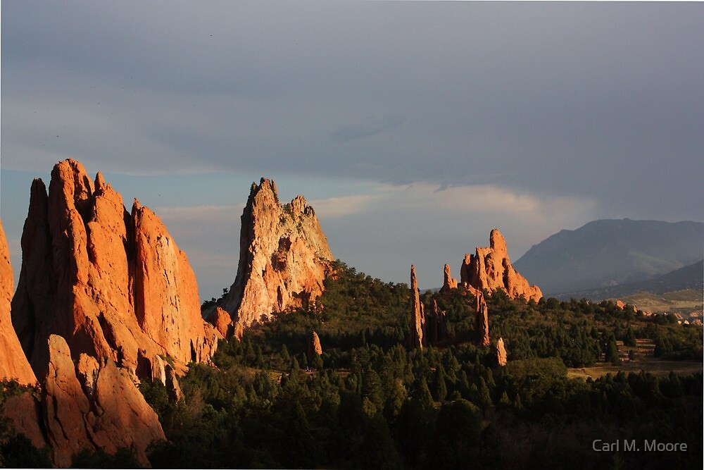 Garden of the Gods (Evening) by Carl M. Moore