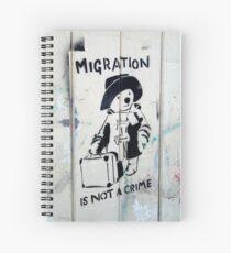 Migration ist kein Verbrechen Spiralblock