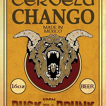 Cerveza Chango Beer by GoMerchBubble