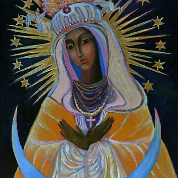Our Lady of Ostra Brama Mother of Mercy Black Madonna Vilnius Virgin Mary Painting by tanabe