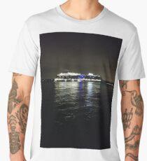 ship, sea, boat, water, ocean, cargo, sky, transportation, port, vessel, blue, travel, harbor, shipping, transport, yacht, summer, ferry, cruise, bay, nautical, tanker, industrial, river, night Men's Premium T-Shirt