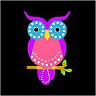 Owl Dots  Black by Vitta