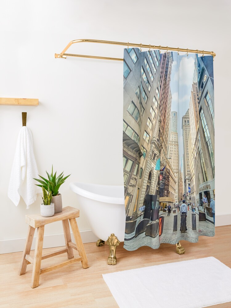 Alternate view of Wall Street Shower Curtain