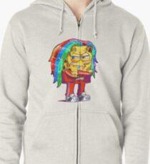 6ix9ine SpongeBob Zipped Hoodie