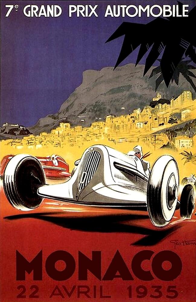 """MONACO GRAND PRIX"" Auto Race Print by posterbobs"