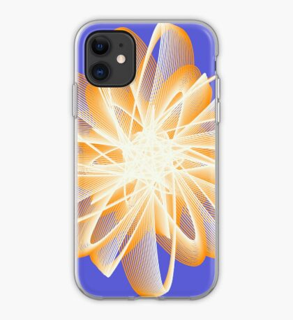 Abstract flower in orange iPhone Case
