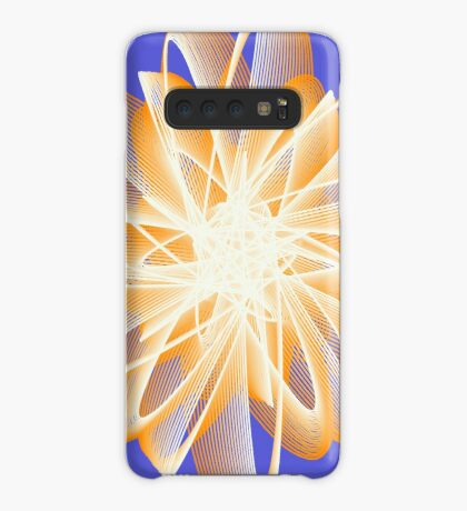 Abstract flower in orange Case/Skin for Samsung Galaxy