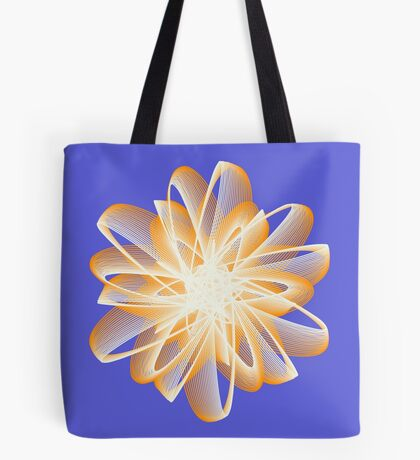 Abstract flower in orange Tote Bag