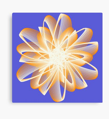 Abstract flower in orange Canvas Print