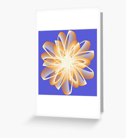 Abstract flower in orange Greeting Card