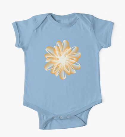Abstract flower in orange Kids Clothes