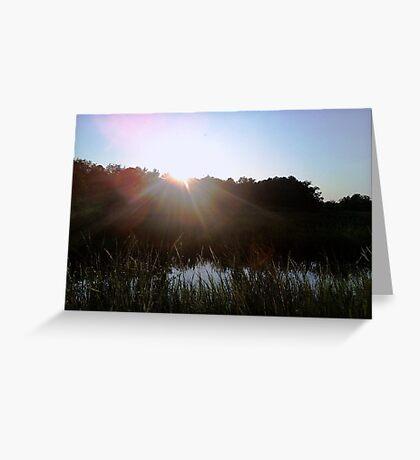 Sun Peaking Through Greeting Card
