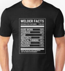 Funny Welder Nutrition Nutritional Facts T-Shirt Unisex T-Shirt