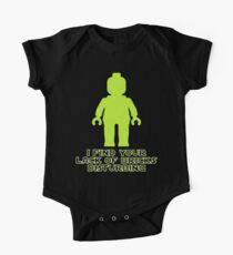 """""""I Find Your Lack of Bricks Disturbing"""" by Customize My Minifig One Piece - Short Sleeve"""