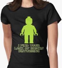 """""""I Find Your Lack of Bricks Disturbing"""" by Customize My Minifig T-Shirt"""