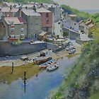 Reflections on The Beck, Staithes by Graham Clark