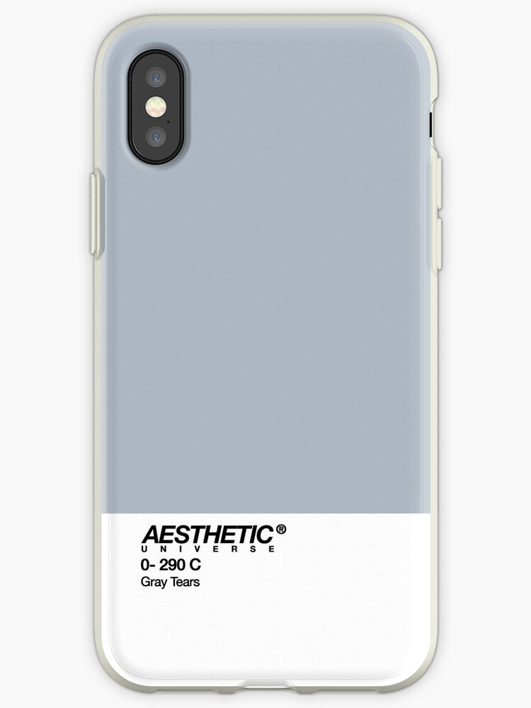the latest 8b379 a8723 'AESTHETIC UNIVERSE GRAY TEARS DESIGN' iPhone Case by stnxv