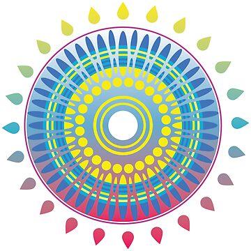Mandala sun design by AK1Shirts