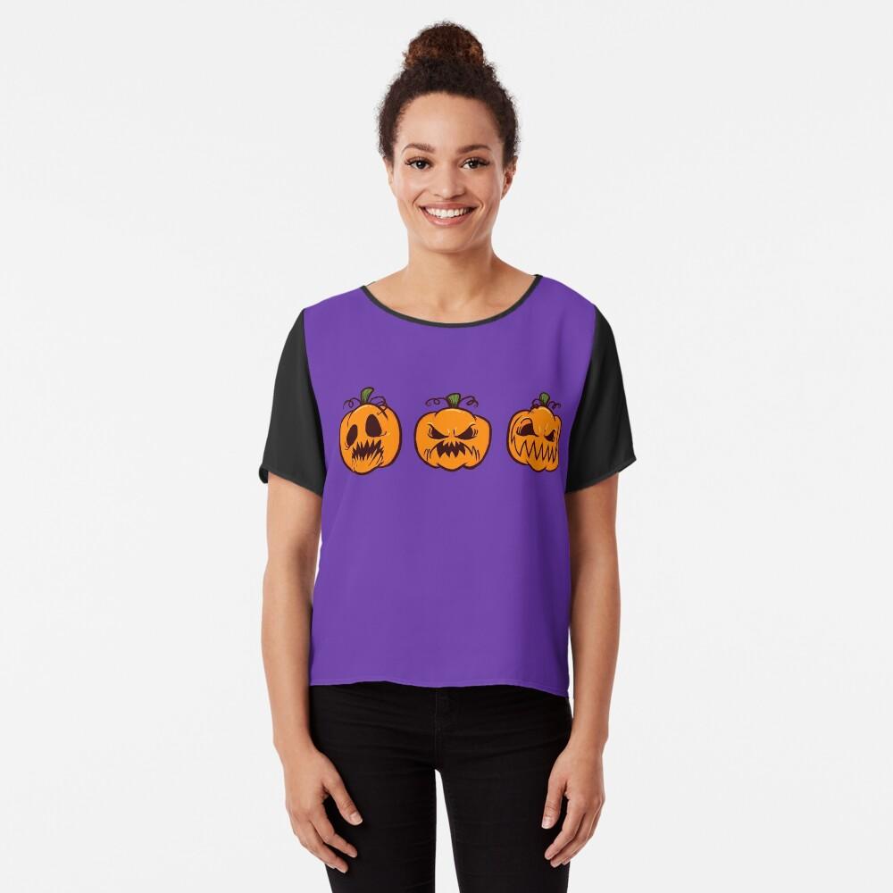 Mischievous Pumpkins Chiffon Top