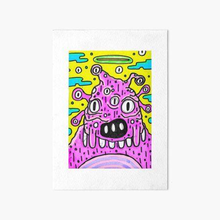 Highlighters Markers Art - Neon UV Light - monster 1 Art Board Print