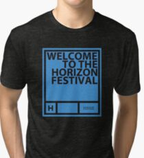 Horizon Festival, blue Tri-blend T-Shirt