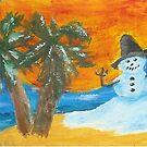 Beachy Snowman by Carol Megivern