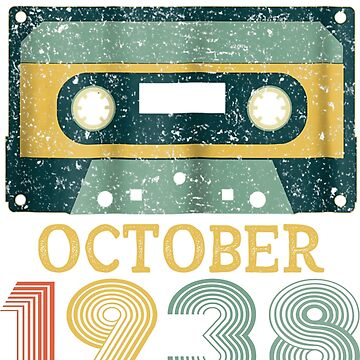 80th Birthday Gift Vintage October 1938 Year Old Mixtape by pigpro