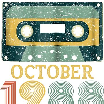30th Birthday Gift Vintage October 1988 Year Old Mixtape by pigpro