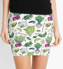 Superfood Pattern Mini Skirt