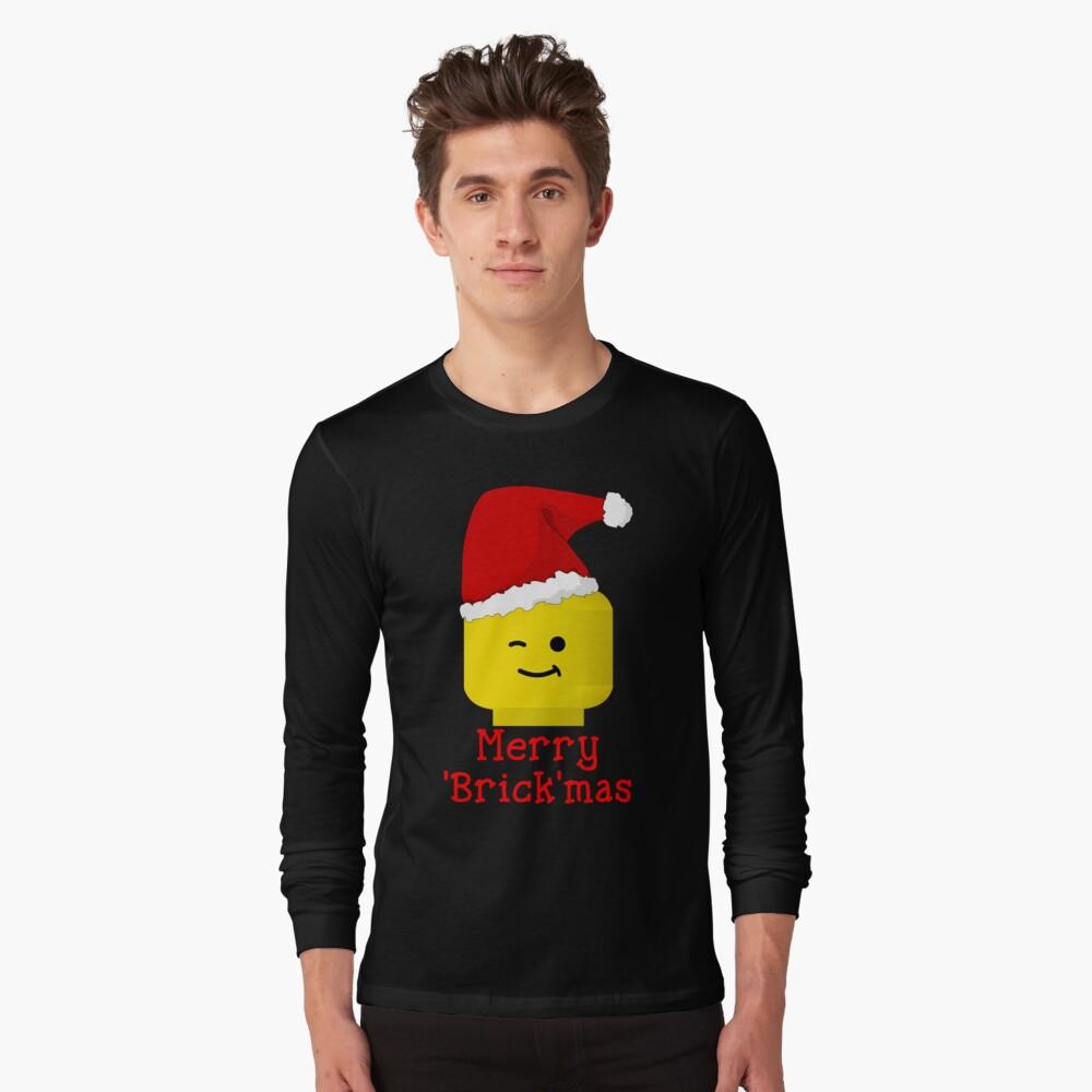 Santa Minifig - Merry 'Brick'mas Long Sleeve T-Shirt Front